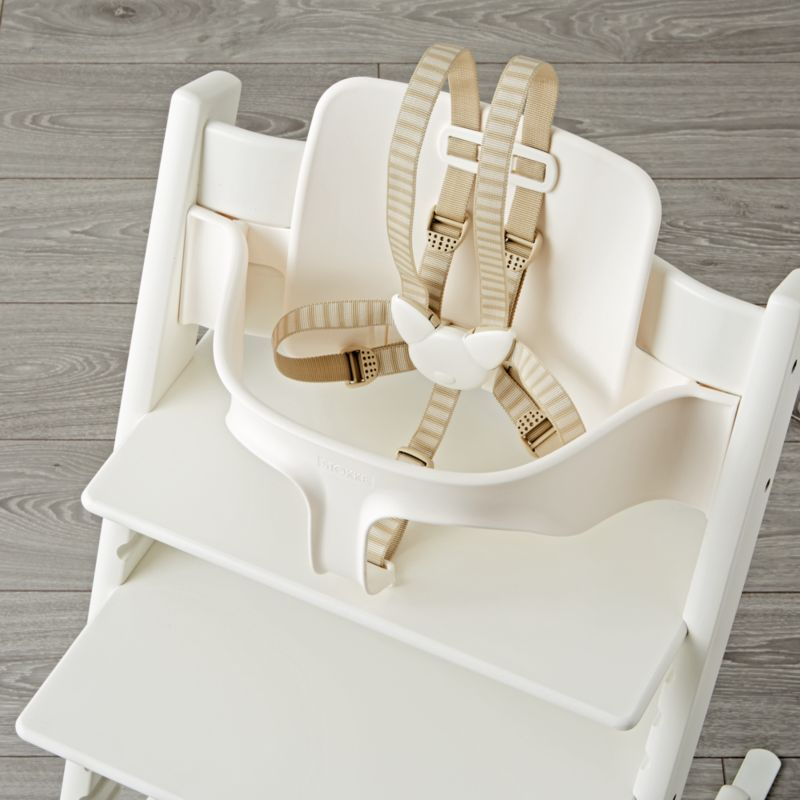 white tripp trapp baby set from stokke crate and barrel. Black Bedroom Furniture Sets. Home Design Ideas