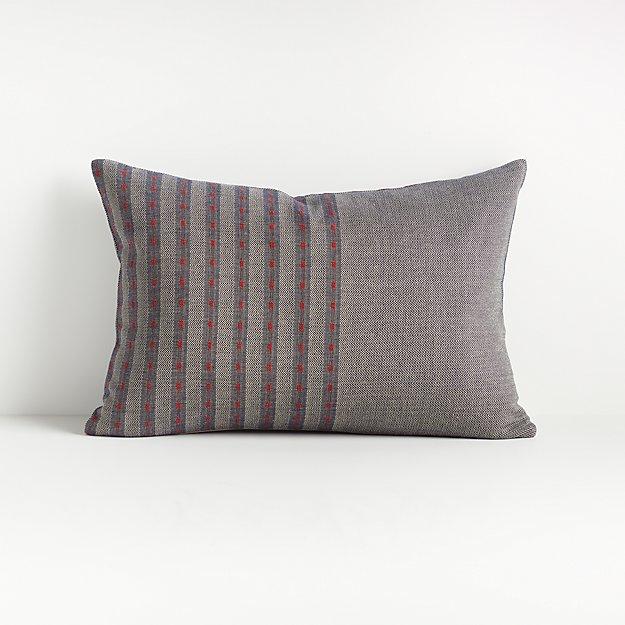 "Hiiromi Herringbone Pillow 22""x15"" - Image 1 of 6"