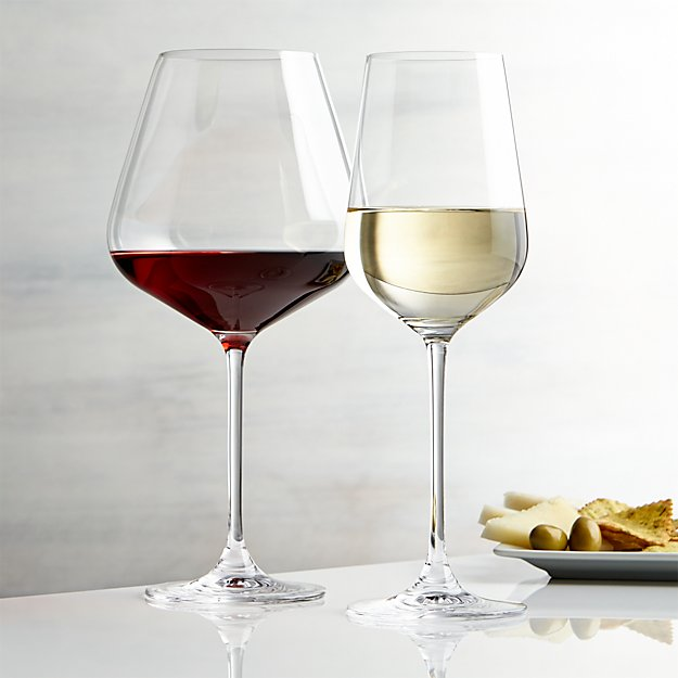 Hip wine glasses crate and barrel for Large white wine glasses