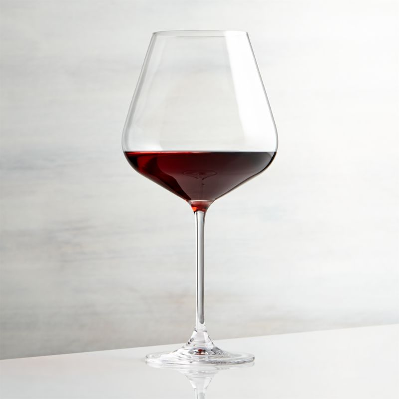Oversized wine glass has a refined modern profile with flared bowl, slender stem and fine rim.<br /><br /><NEWTAG/><ul><li>Glass</li><li>31 oz.</li><li>Dishwasher-safe</li><li>Made in Thailand</li></ul>
