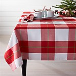 Holiday Plaid Tablecloth 60 x120