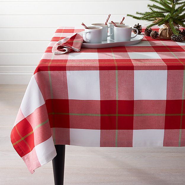 "Holiday Plaid Tablecloth 60""x90"""