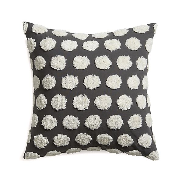 """Hob Nail 23"""" Pillow with Down-Alternative Insert"""