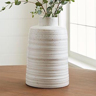 interesting white ceramic vases. Holden Vase Decorative Vases  Glass and Ceramic Crate Barrel