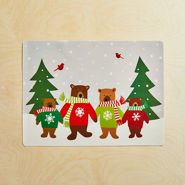 Holiday Bears Easy-Care Placemat - Image 1 of 4