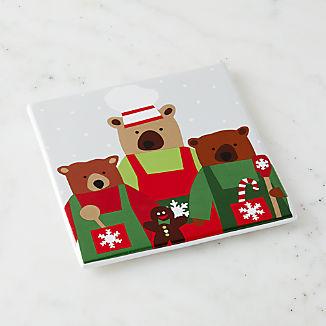 Holiday Bears Trivet