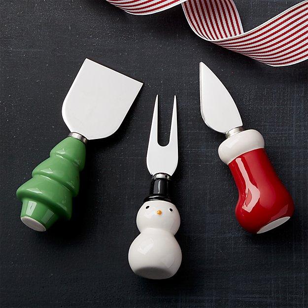 Holiday Cheese Tools Set of Three