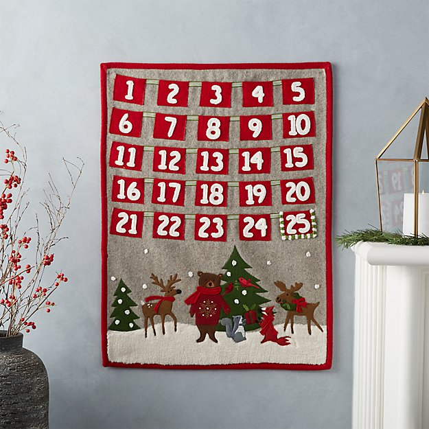 holiday critter advent calendar reviews crate and barrel