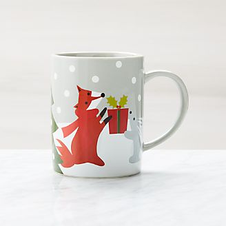 The Office Mugs With Holiday Critters Mug Coffee Mugs And Tea Cups Crate Barrel