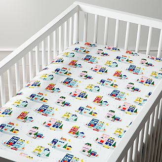 Crib Fitted Sheets Crate And Barrel