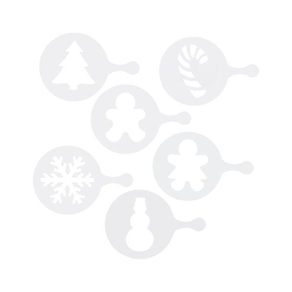 Set of 6 Holiday Decorating Stencils