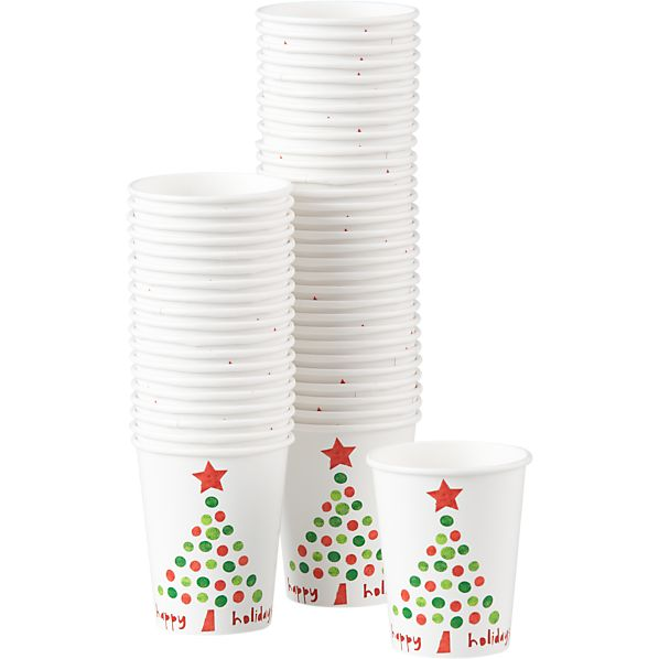 Set of 50 Holiday Dot Cups