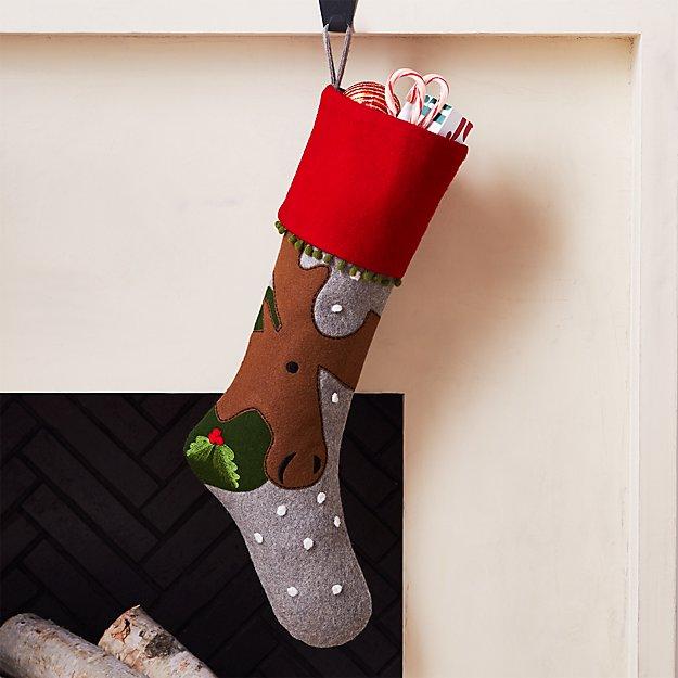 Holiday Moose Stocking - Image 1 of 6