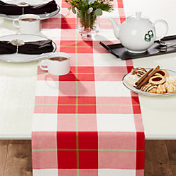 Holiday 60 round plaid tablecloth crate and barrel for 120 table runner christmas