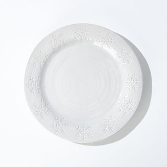 Holiday Snowflake Dinner Plate