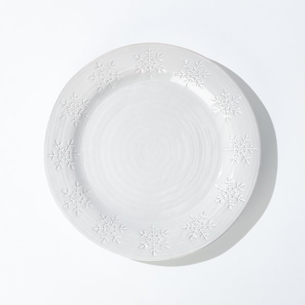 Holiday Snowflake Dinner Plate - Image 1 of 7
