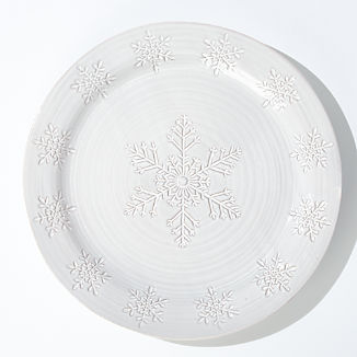 Holiday Snowflake Round Platter