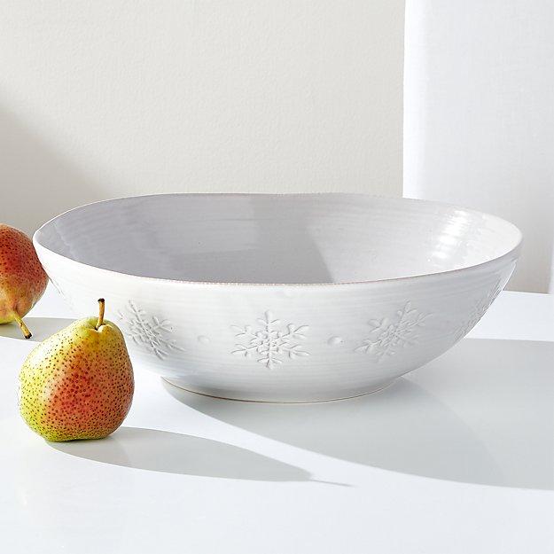 Holiday Snowflake Serving Bowl - Image 1 of 3