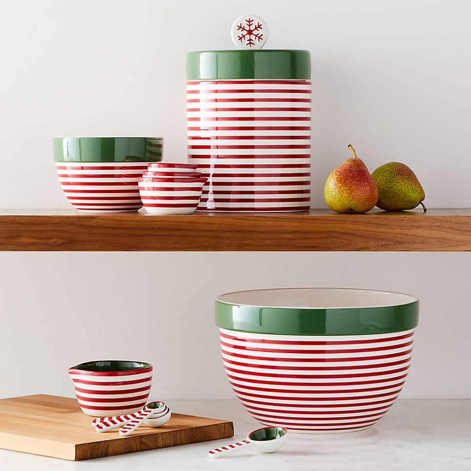 Viewing product image Holiday Stripe Large Mixing Bowl
