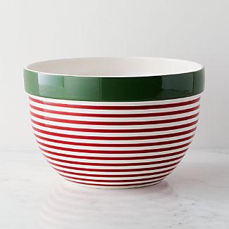 Holiday Stripe Large Mixing Bowl