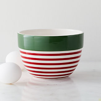 Holiday Stripe Small Mixing Bowl