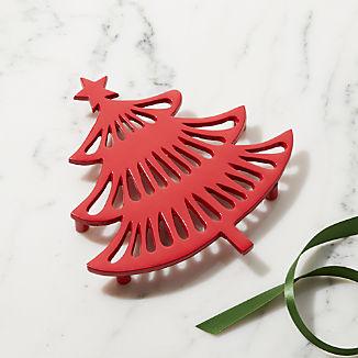 Holiday Tree Metal Trivet