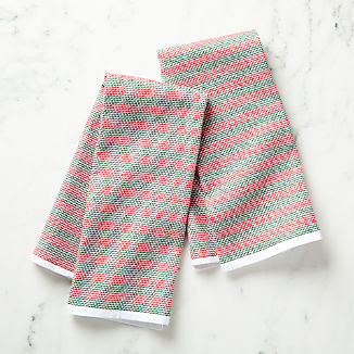 Holiday Textured Terry Dish Towels, Set of 2