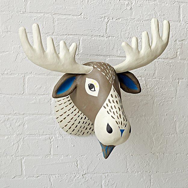 Paper Mache Moose Head - Image 1 of 6