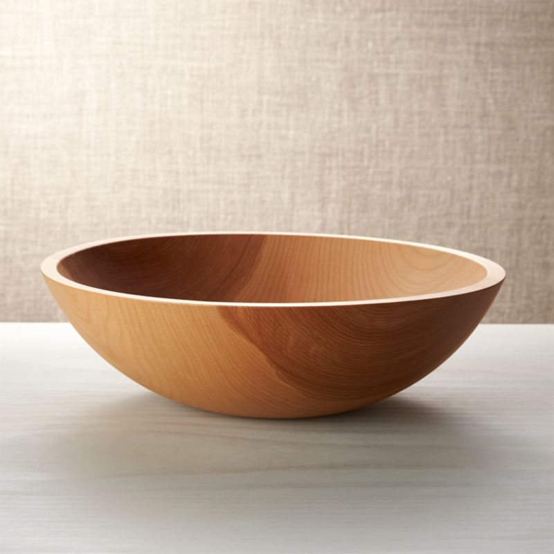 Holland 15 Quot Wood Salad Bowl Reviews Crate And Barrel