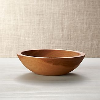 "Holland 7.5"" Wood Salad Bowl"