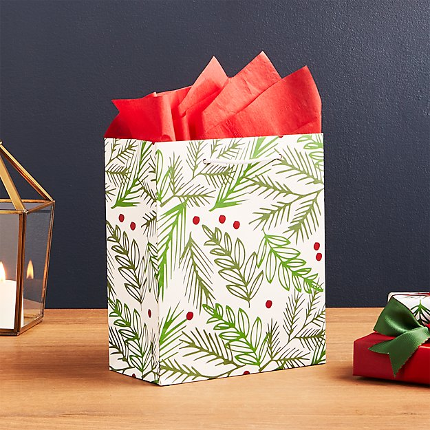 Holly with Berries Medium Gift Bag