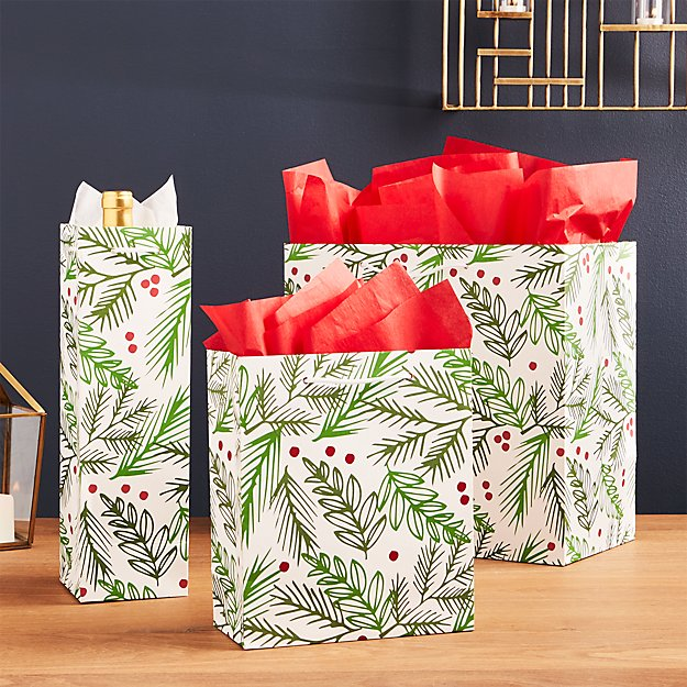 Holly with Berries Gift Bags
