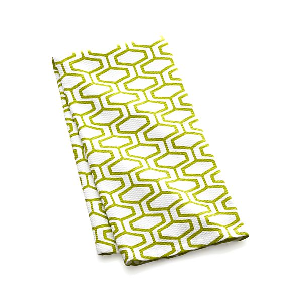Honeycomb Green Dish Towel