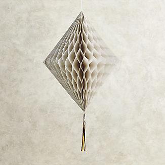 "22"" Grey Honeycomb Diamond with Tassel"