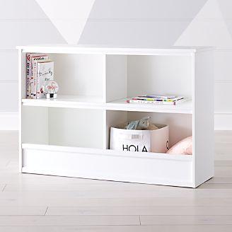 Horizon Wide White Bookcase Kids