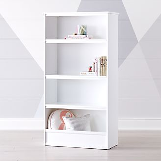 horizon tall white bookcase - Baby Room Bookshelves