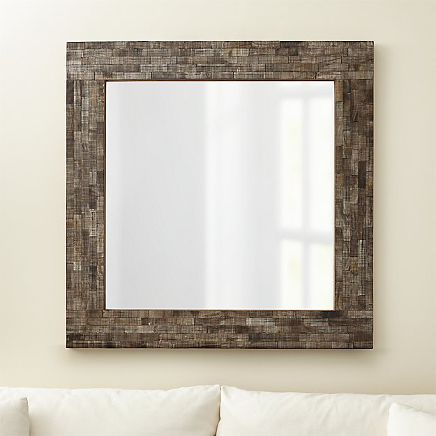 Horn Mosaic Mirror 40x40 Crate And Barrel