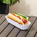 White Melamine Hot Dog Basket