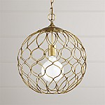 Hoyne 15  Brass Pendant