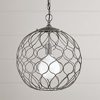 Pendant lighting and chandeliers crate and barrel hoyne 15 iron pendant lamp aloadofball Gallery