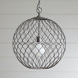 Pendant lighting and chandeliers crate and barrel hoyne 215 iron pendant aloadofball Gallery