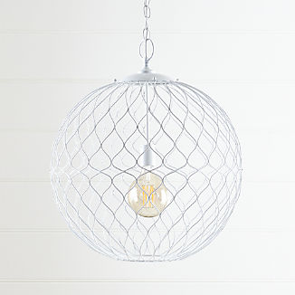 "Hoyne 21.5"" White Pendant Light"