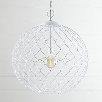 "Hoyne 31"" White Pendant Light"