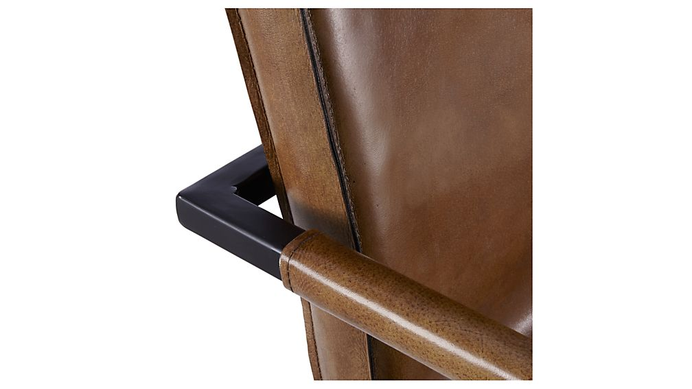 Hudson Brown Leather Dining Chair
