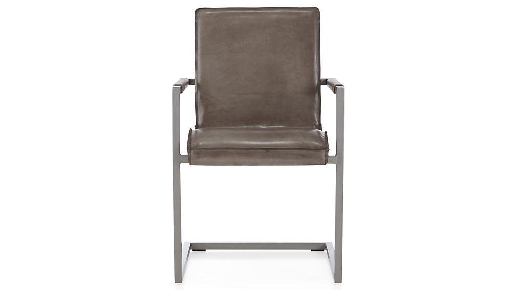 Hudson Grey Leather Dining Chair