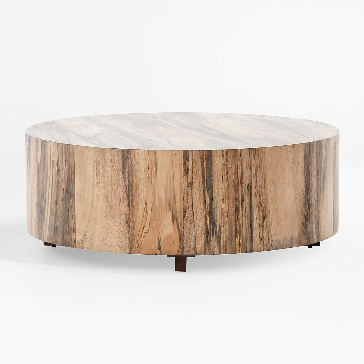 Picture of: Dillon Spalted Primavera Round Wood Coffee Table Reviews Crate And Barrel