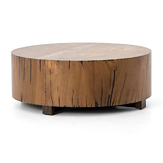 Hudson Natural Yukas Round Wood Coffee Table