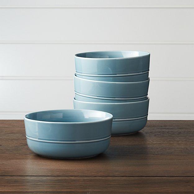 Set of 4 Hue Blue Bowls