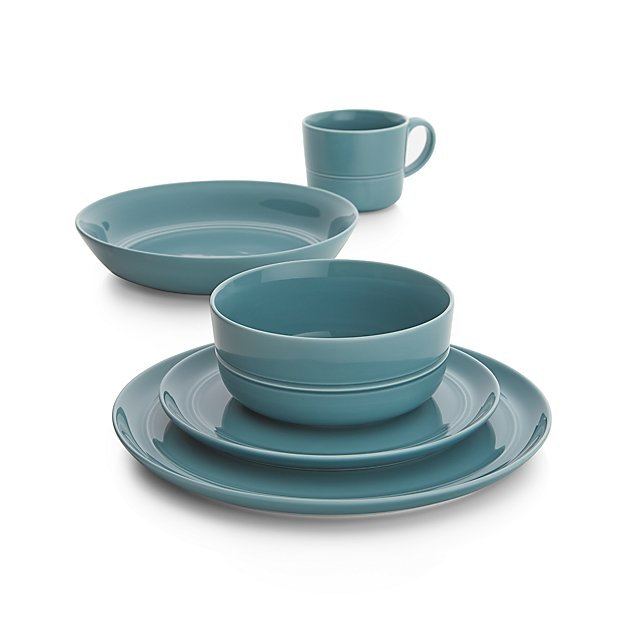sc 1 st  Crate and Barrel & Hue Blue Dinnerware | Crate and Barrel