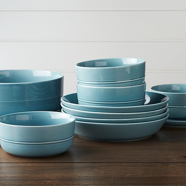 Hue Blue Dinnerware | Crate and Barrel